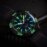 Ocean Crawler Dream Diver - Blue Carbon Fiber DLC - Ocean Crawler Watch Co.