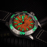 Ocean Crawler Dream Diver - Orange - Ocean Crawler Watch Co.