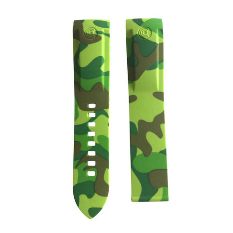 Ocean Crawler Green Camouflage Camo Rubber Band For Champion Diver Watch Limited Edition - Ocean Crawler Watch Co.