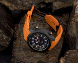 Ocean Crawler Lumed Carbon Fiber Prototype - Aventurine Dial - Ocean Crawler Watch Co.