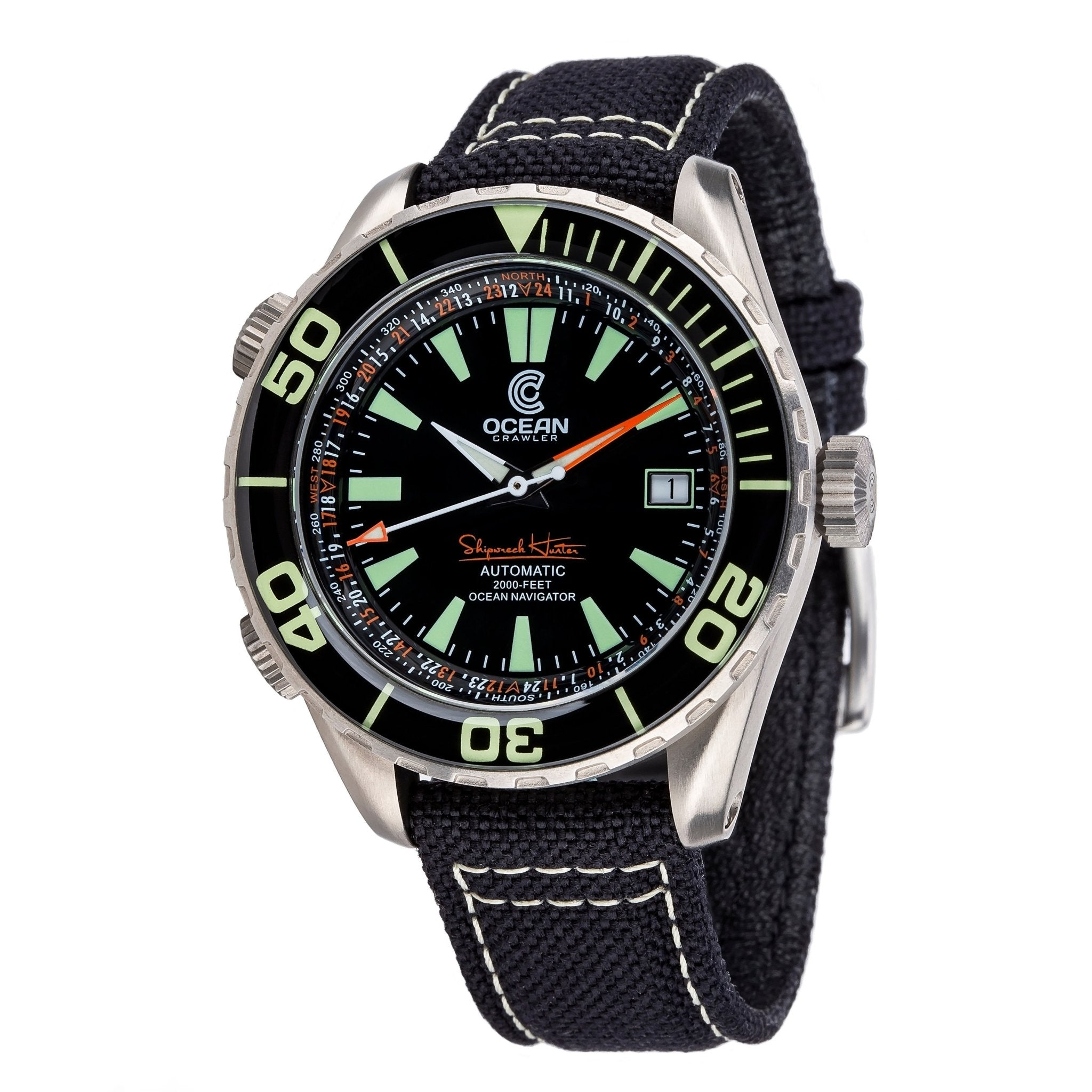 Ocean Crawler Ocean Navigator - Black - Ocean Crawler Watch Co.