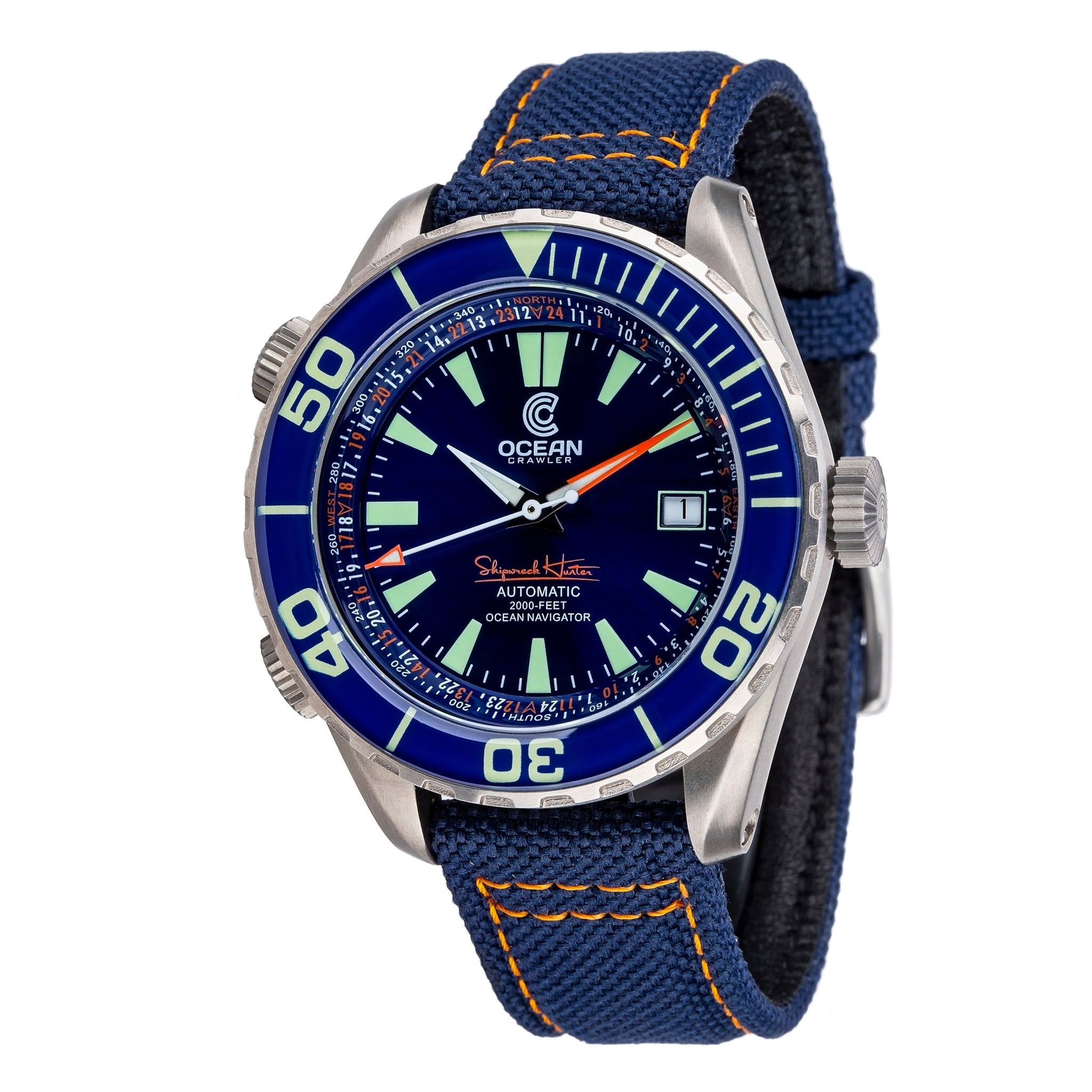 Ocean Crawler Ocean Navigator - Blue - Ocean Crawler Watch Co.