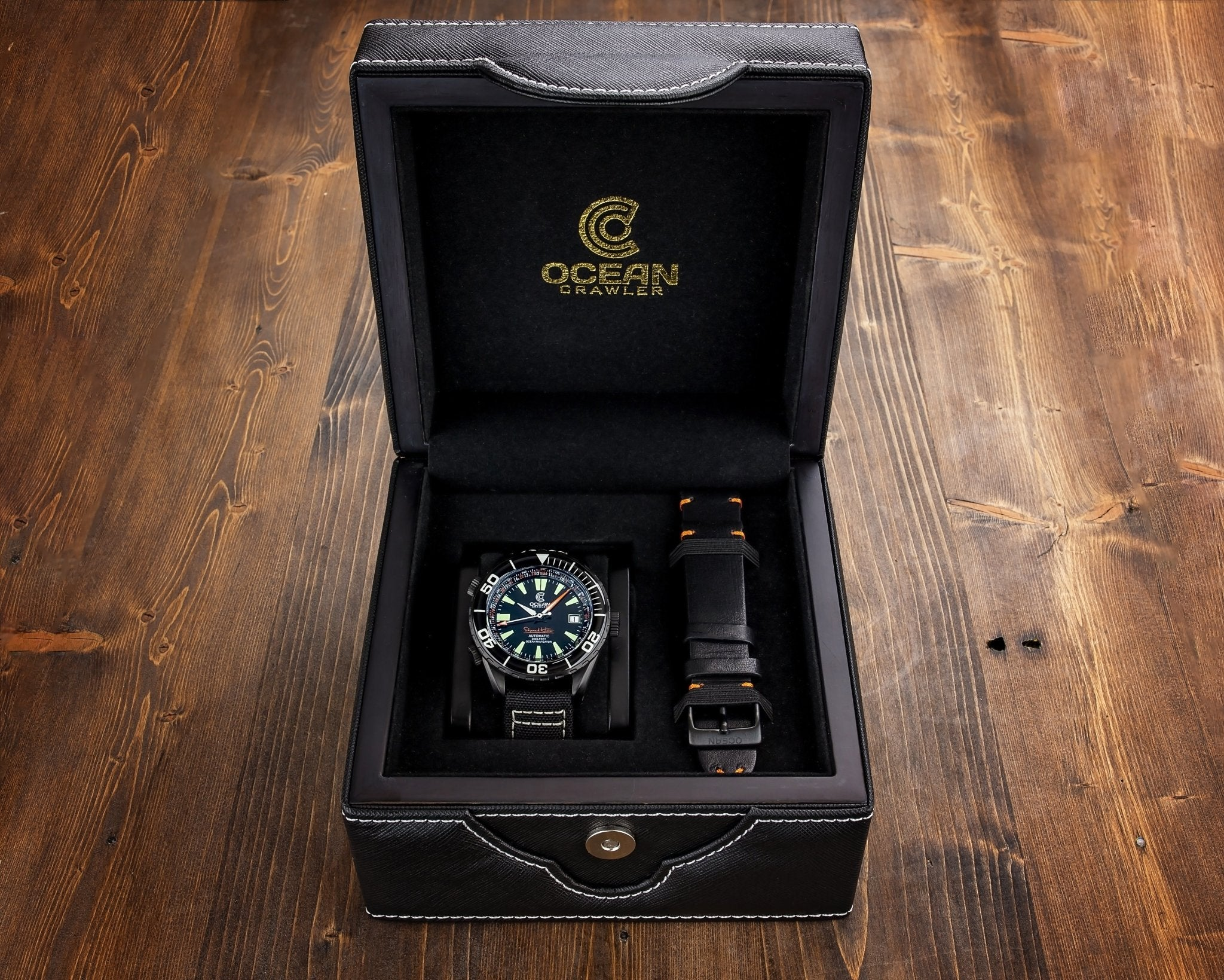 Ocean Crawler Ocean Navigator - DLC - Black - Ocean Crawler Watch Co.