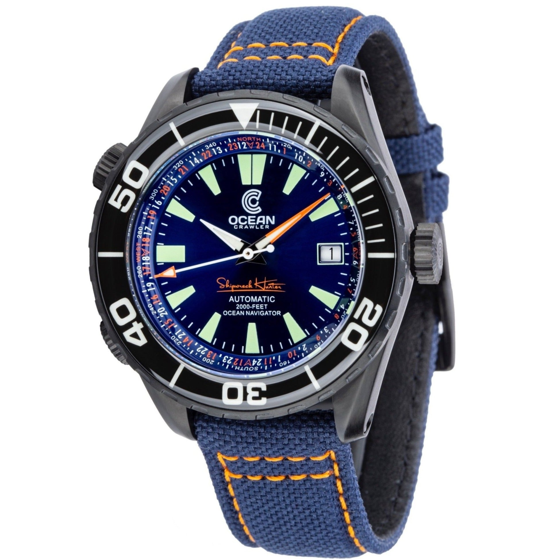 Ocean Crawler Ocean Navigator - DLC - Blue - Ocean Crawler Watch Co.
