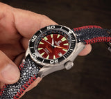 Ocean Crawler Ocean Navigator - Red - Preorder - Ocean Crawler Watch Co.