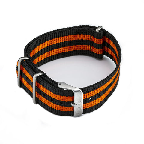 Ocean Crawler Orange/Black NATO Strap - 22mm - Ocean Crawler Watch Co.