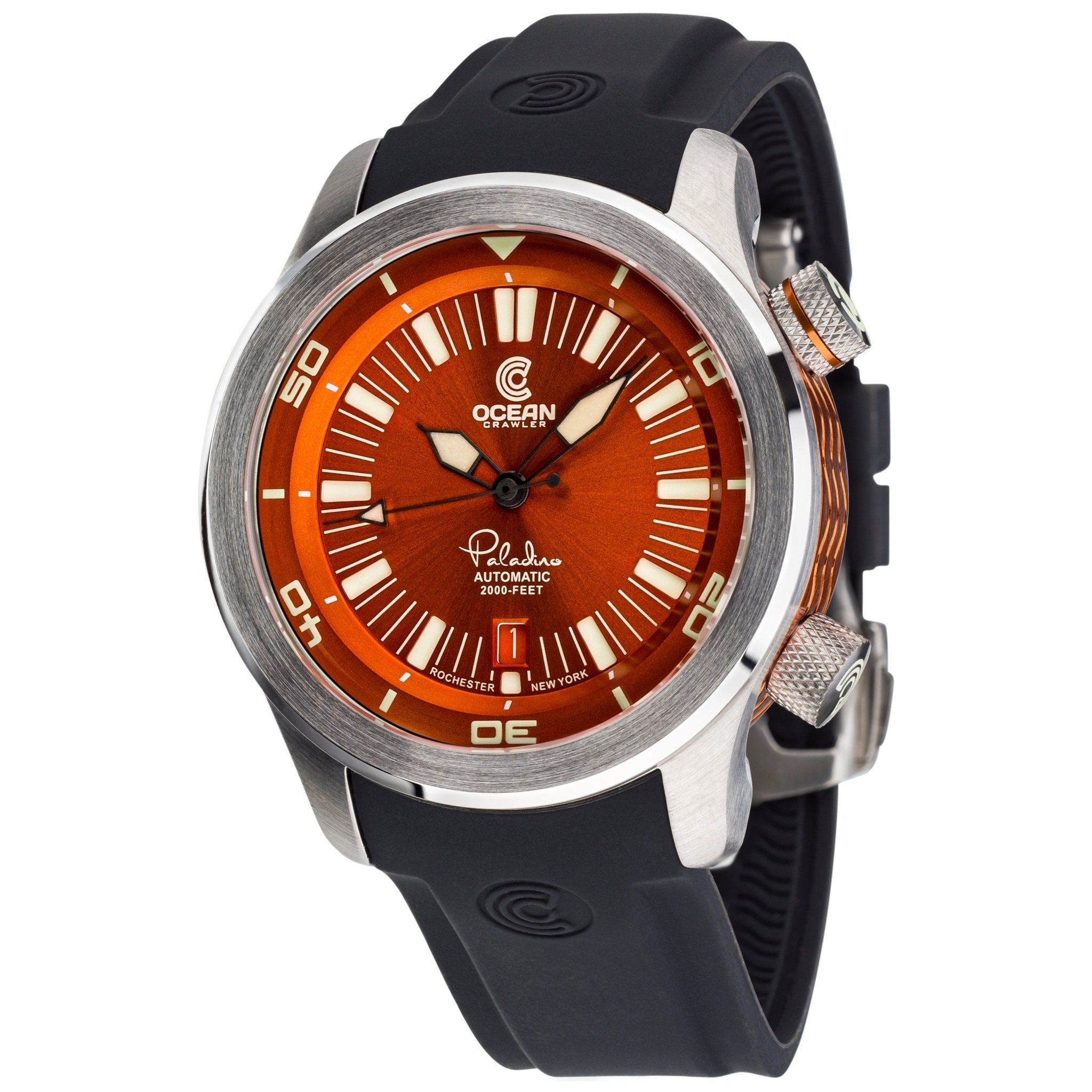 Ocean Crawler Paladino WaveMaker Orange/Black - Ocean Crawler Watch Co.