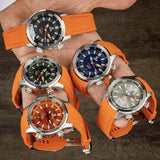 Ocean Crawler Paladino WaveMaker - Silver - Ocean Crawler Watch Co.