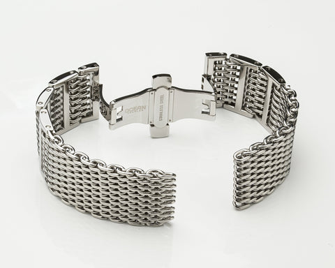 Ocean Crawler Shark Mesh Bracelet - 22mm - Ocean Crawler Watch Co.