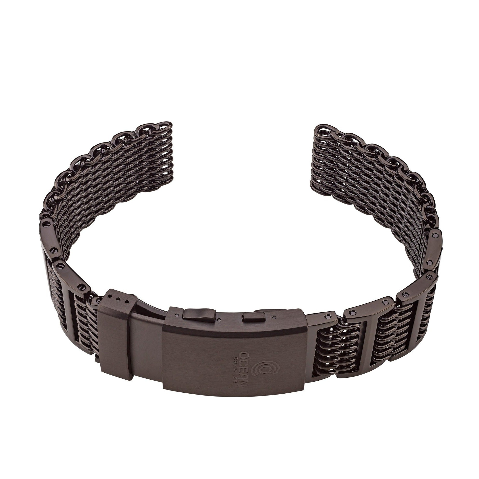 Ocean Crawler Shark Mesh With Ratchet Extension Clasp - DLC - 22m - Ocean Crawler Watch Co.