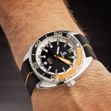 Orange/Black NATO Strap - Ocean Crawler Watch Co.