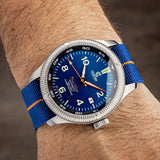Orange/Blue NATO Strap - Ocean Crawler Watch Co.