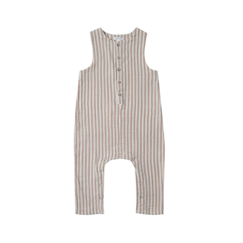 Button Jumpsuit - Cocoa Stripe