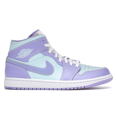 Image of Air Jordan 1 Mid Purple Aqua (GS)