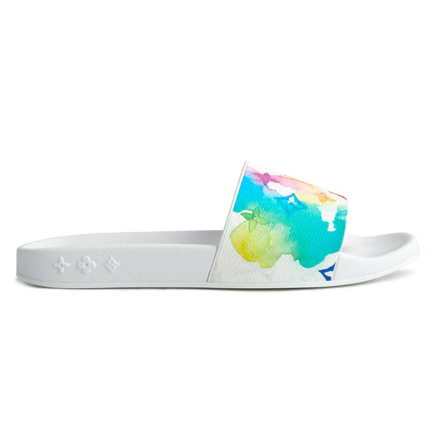 image of Louis Vuitton Waterfront Multicoloured Monogram Slides
