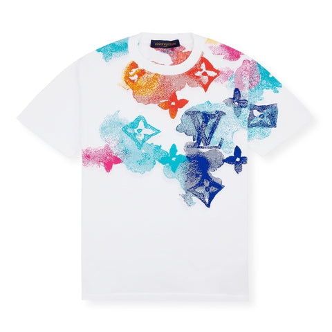 Louis Vuitton Multicoloured Watercolour White T Shirt