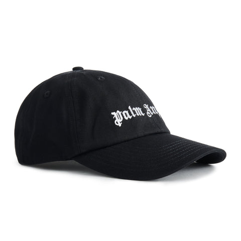 Image Of Palm Angels Black Logo Embroidered Cap