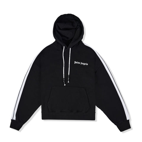 Image of Palm Angels Fleece Track Black Hoodie
