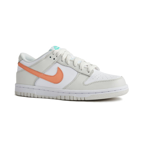 Nike Dunk Low Mismatch Swoosh White Bone Peach Aqua (GS)