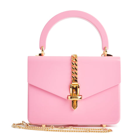 Image of Gucci Mini Sylvie 1969 Pink Shoulder Bag