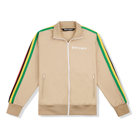 Image of Palm Angels Exodus Striped Beige Track Jacket