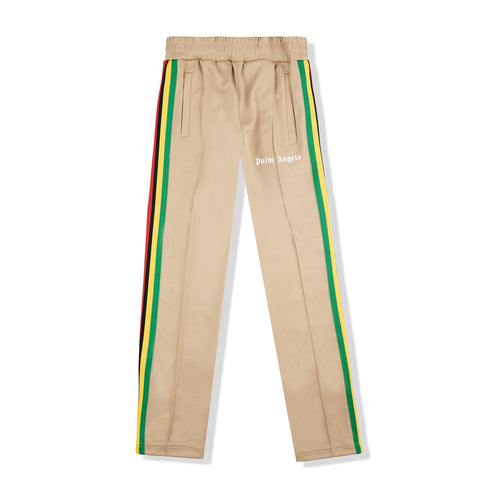 Image of Palm Angels Exodus Striped Beige Track Pants