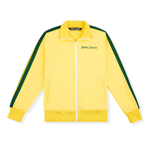 Image of Palm Angels Yellow Green Striped Track Jacket