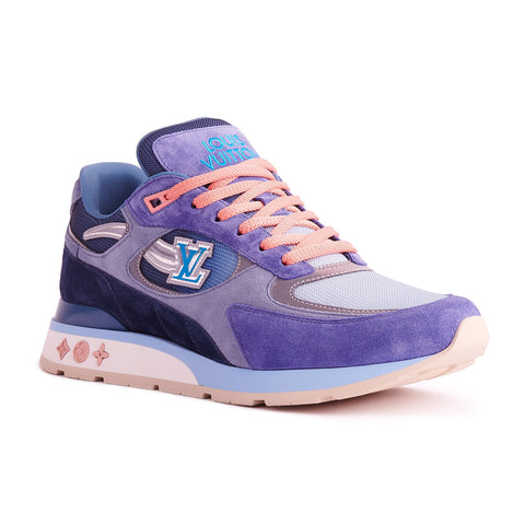 Louis Vuitton Run Away Blue Suede Sneaker