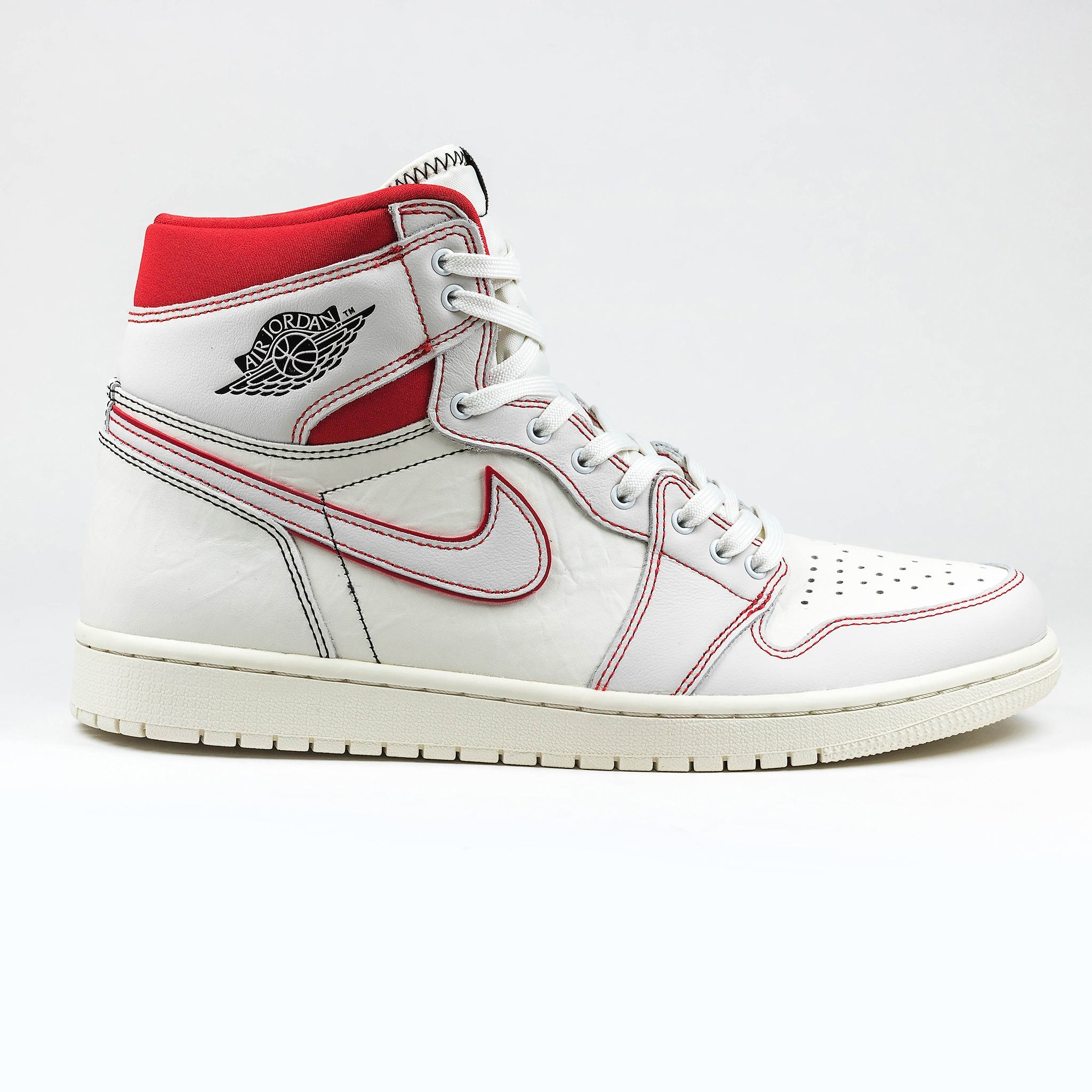 3f31e35a1 Nike Air Jordan 1 Retro High Phantom White University Red – Crepslocker
