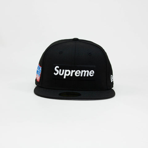 Supreme New Era World Famous Box Logo Black Cap