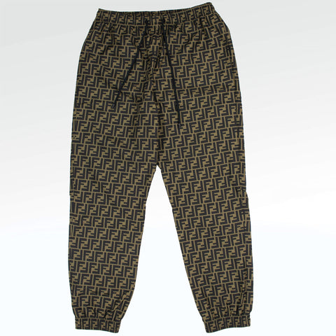 Fendi FF Brown Nylon TrackPants