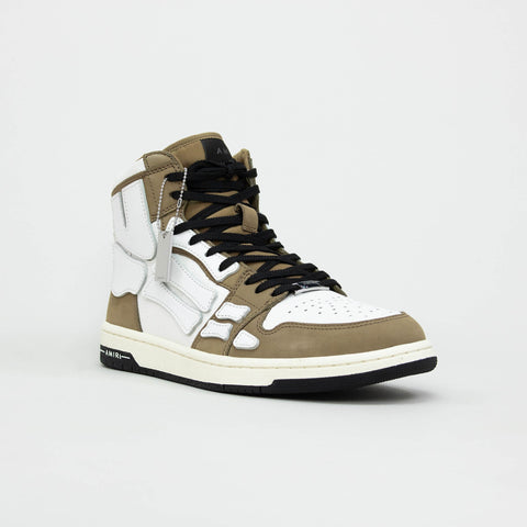 Amiri Skeleton Tan White High Top Sneaker