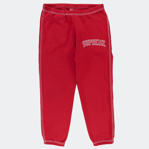 Supreme Big Stitch Red Sweatpants