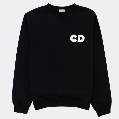 Dior x Daniel Arsham Oversized 3D Eroded Black Sweatshirt