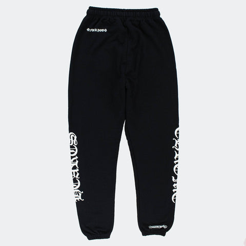 Chrome Hearts Logo Drawstring Black Sweatpants