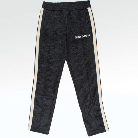 Palm Angels Croco Brown Printed Track Pants