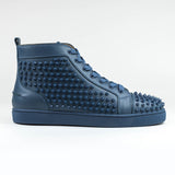 Christian Louboutin Louis Flat Calf Spikes Blues
