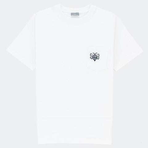Dior x Shawn Stussy Oversized White Bee T Shirt