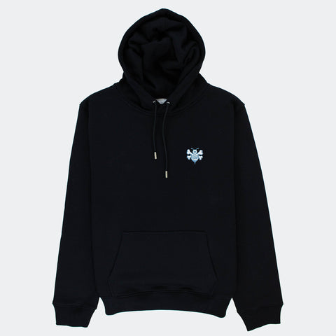 Dior x Shawn Stussy Oversized Black Bee Hoodie