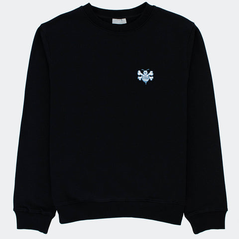 Dior x Shawn Stussy Oversized Black Bee Sweatshirt