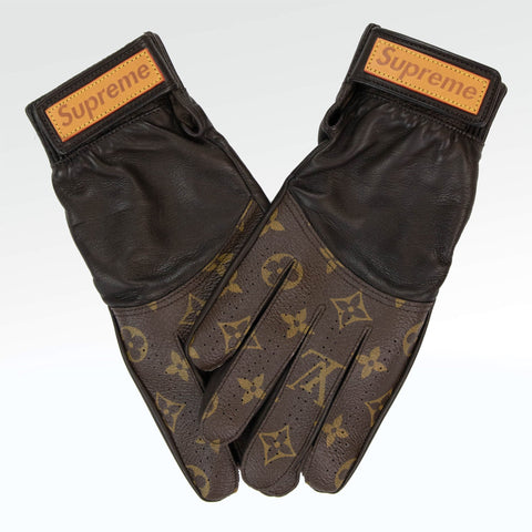 Supreme x Louis Vuitton Baseball Gloves Brown