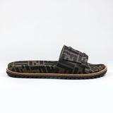 Fendi FF Brown Slides