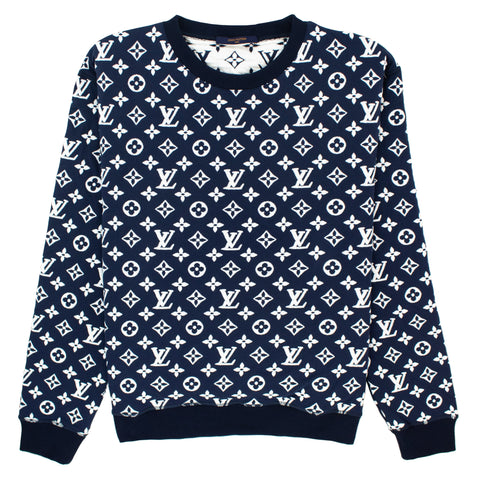 Louis Vuitton All Over Monogram Blue Sweatshirt