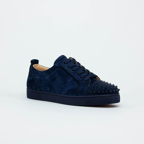 Christian Louboutin Louis Junior Spikes Suede Blue