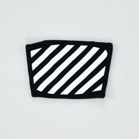 Off-White Black Stripes Logo Mask