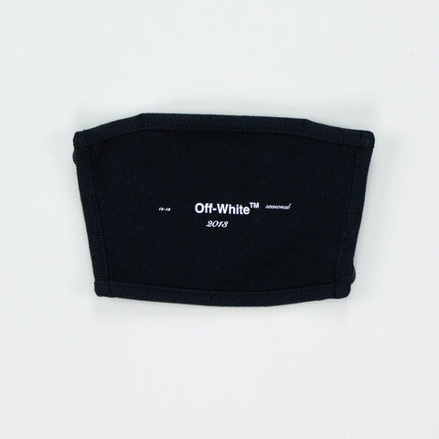 Off-White Black 2019 Logo Mask