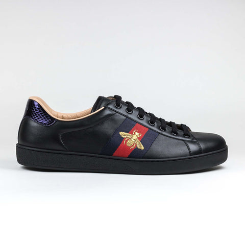 Gucci Ace Bee Embroidered Black Sneaker
