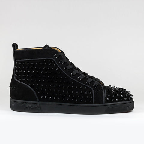 Louis Orlato Flat Spikes Suede Black