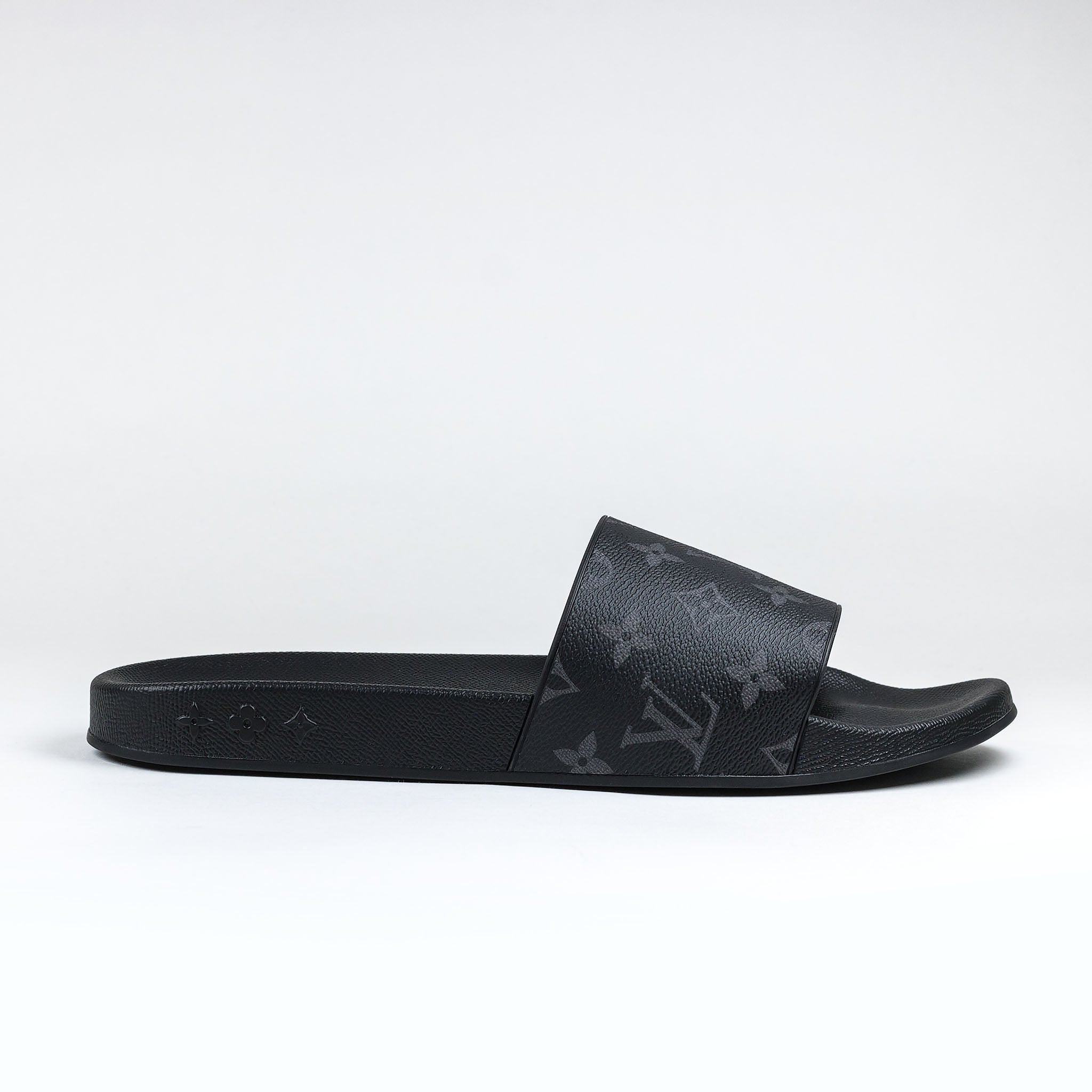 5a0542e9d00f Louis Vuitton Eclipse Monogram Waterfront Mule Slides – Crepslocker