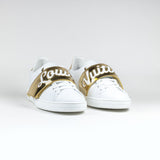 Louis Vuitton White Gold Frontrow Sneaker